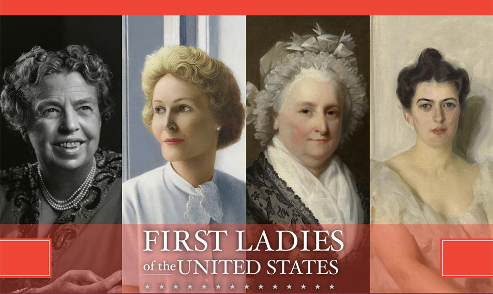 bANNER GRAPHIC FOR fIRST lADIES EXH