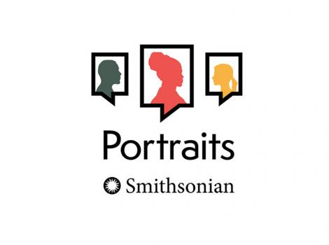 portraits logo featuring 3 silhouettes