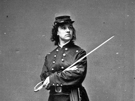 Woman in a Civil War Union uniform
