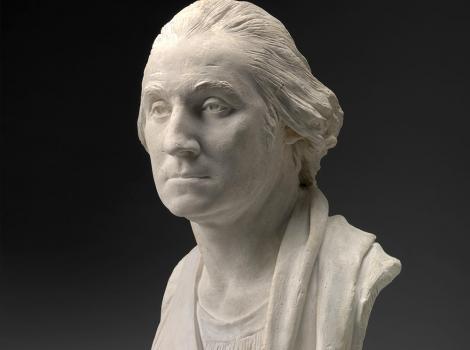 Portrait bust of an 18th century man