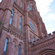 View of the Smithsonian castle